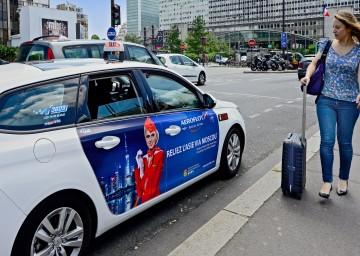 Taxiadvertising Aeroflot France